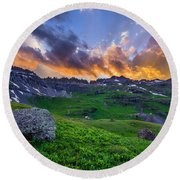 Governor's Basin Sunset Round Beach Towel