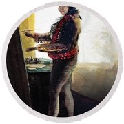 Goya: Self-portrait Round Beach Towel