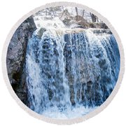 Grace Is A Waterfall Round Beach Towel