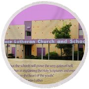 Grace Lutheran School Round Beach Towel