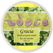 Grace Spanish Round Beach Towel