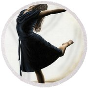 Graceful Enlightenment Round Beach Towel