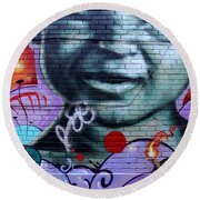 Graffiti 18 Round Beach Towel