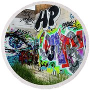 Graffiti 3 Round Beach Towel