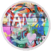 Graffiti 4 Round Beach Towel