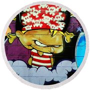 Graffiti 8 Round Beach Towel