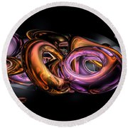 Graffiti Abstract Round Beach Towel