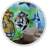 Graffiti Art Albuquerque New Mexico 7 Round Beach Towel