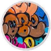 Graffiti Art Nyc 10 Round Beach Towel