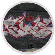 Graffiti Art Nyc 26 Round Beach Towel