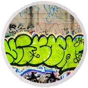 Graffiti Art Nyc 3 Round Beach Towel