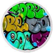 Graffiti Art Nyc 8 Round Beach Towel