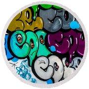 Graffiti Art Nyc 9 Round Beach Towel