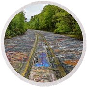 Graffiti Highway, Facing North Round Beach Towel