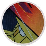 Graffiti Wall Round Beach Towel