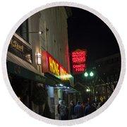 Grafton Street Pub And The Hong Kong In Harvard Square Cambridge Ma Round Beach Towel
