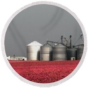 Grain Storage Infrared No1 Round Beach Towel