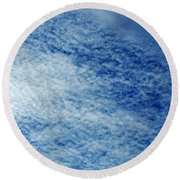 Grainy Sky Round Beach Towel