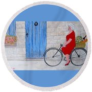 Gran In Provence Round Beach Towel