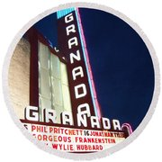 Granada Theater Round Beach Towel