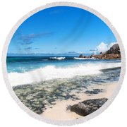 Grand Anse Beach Round Beach Towel
