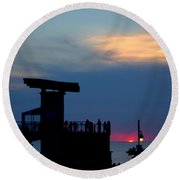 Grand Bend Silhouettes Round Beach Towel
