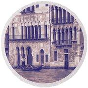 Grand Canal 2. Venice Italy Round Beach Towel