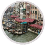 Grand Canal 4261 Round Beach Towel