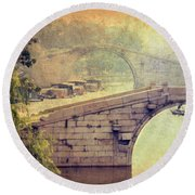 Grand Canal Bridge Suzhou Round Beach Towel