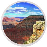 Grand Canyon # 22 - Mather Point Overlook Round Beach Towel