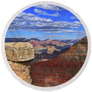 Grand Canyon # 29 - Mather Point Overlook Round Beach Towel