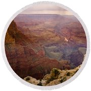 Grand Canyon In The Spring Round Beach Towel