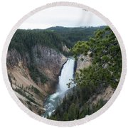 Grand Canyon In Wyoming Round Beach Towel
