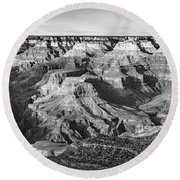 Layers Of Time In The Grand Canyon Round Beach Towel