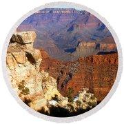 Grand Canyon National Park Arizona Panorama Round Beach Towel