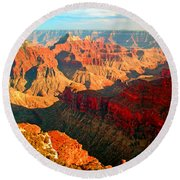 Grand Canyon National Park Sunset On North Rim Round Beach Towel
