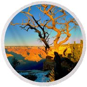 Grand Canyon National Park Winter Sunrise On South Rim Round Beach Towel