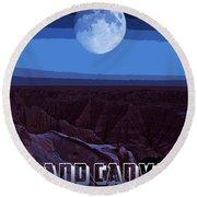 Grand Canyon Nights Round Beach Towel