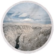 Grand Canyon Of Pa In Infrared Round Beach Towel