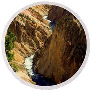 Grand Canyon Of The Yellowstone 2 Round Beach Towel
