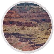 Grand Canyon Orphan Mine Round Beach Towel by Susan Rissi Tregoning