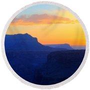 Grand Canyon Sunrise At Toroweap Round Beach Towel