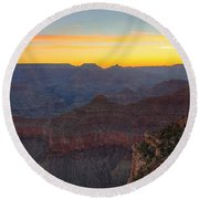 Grand Canyon Twilght Round Beach Towel