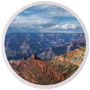 Grand Canyon View 1 Round Beach Towel