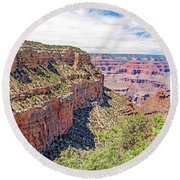 Grand Canyon, View From South Rim Round Beach Towel