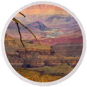 Grand Canyon Vista Round Beach Towel