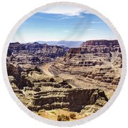 Grand Canyon West Rim Round Beach Towel