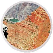 Grand Canyon36 Round Beach Towel