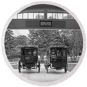 Grand Carriages Round Beach Towel