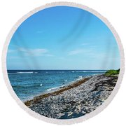 Grand Cayman Island Caribbean Sea 2 Round Beach Towel